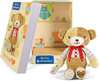 Clementoni 17418 Osito Bob The Bear Plush Toy for Babies, Ages 0 Months Plus, Multicoloured