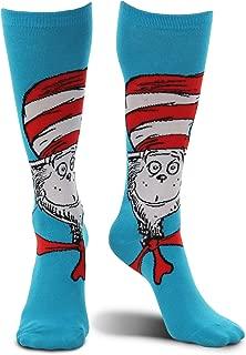 elope Dr. Seuss Cat in The Hat Knee High Costume Socks Blue