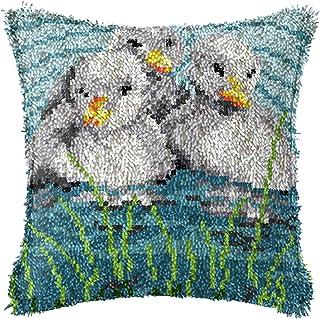 Lanrui Crochet de loquet Kits DIY Couverture Couverture Coup DE COUPION COUPION PRE-IMPRIMÉ avec Change ANIMILE Coussin Co...