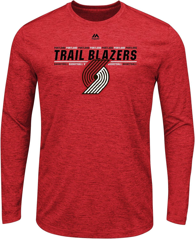 Portland Trail Blazers NBA Men's Thrill A Minute Long Sleeve Performance T-Shirt
