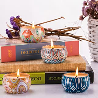 Abarli Scented Candles Gift Set Kitchen Candle 100% Soy Wax for Stress Relief and Aromatherapy, Candles - 4 Pack