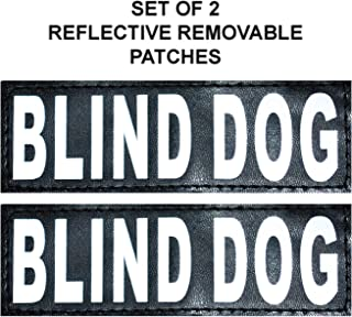 Doggie Stylz Set of 2 Reflective Blind Dog Removable Patches for Service Dog Harnesses & Vests.