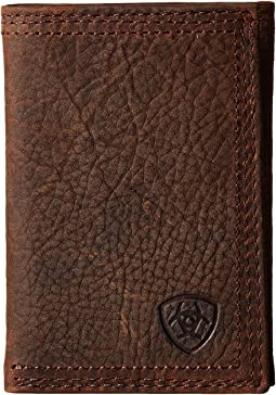 Shield Triple Stitch Trifold Wallet
