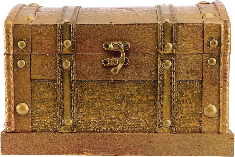 Amosfun Retro Atlanta Mall Wooden Box Pirate Chest Gem Treasure Jewel Max 55% OFF Vintage