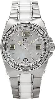 ESQ Movado Women's 7101264 Bali Stainless-Steel White Ceramic Bracelet Watch