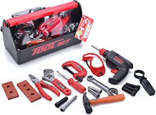 STEAM Life Kids Tool Set for Toddlers Age 3 4 5 6 7 Year Old Boy Toys - 23 pc Tool Box Set Toy Tools for Kids