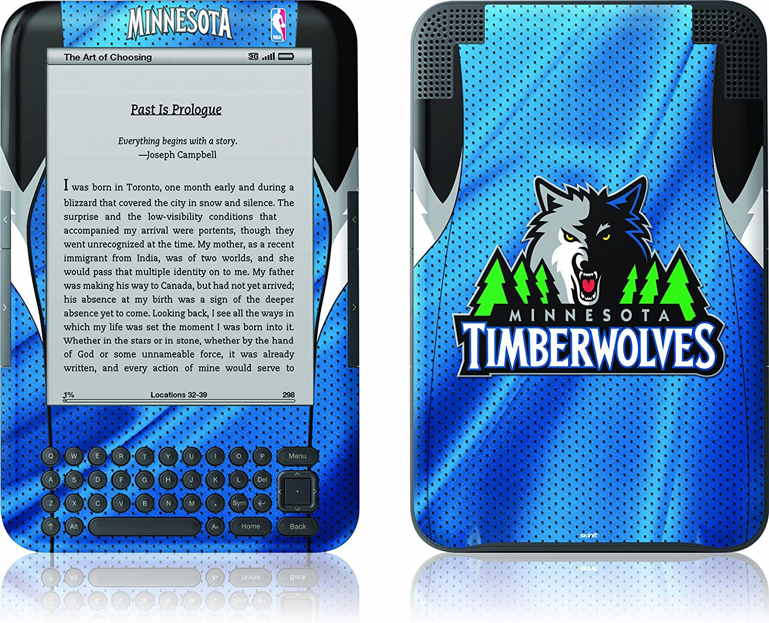 Skinit Kindle Skin Cheap Special Campaign mail order shopping Fits Timberwolve Minnesota Keyboard