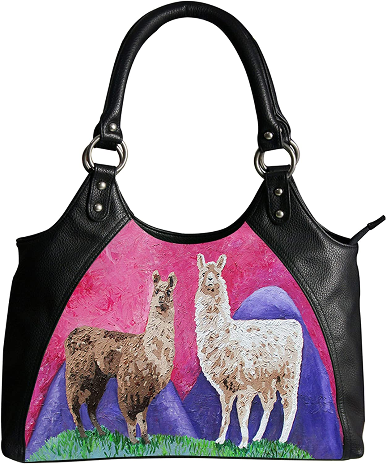 Vegan Leather Retro Style Shoulder Bag  Taken From My Original Oil Painting, Support Wildlife Conservation