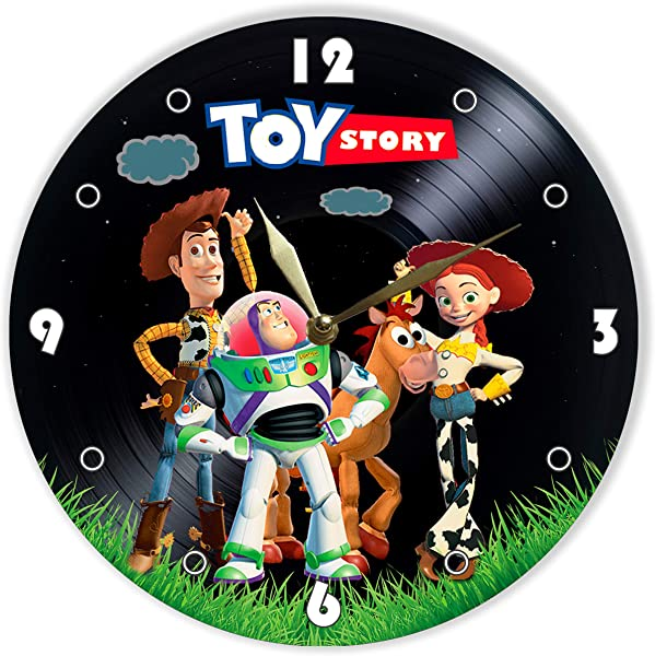 MiraG Toy Story Painted Vinyl Clock Toy Story Wall Clock Unique Gifts For Fans Toy Story Woody Buzz Lightyear Jessie The Best Home Decor
