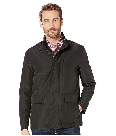 Cole Haan Packable Rain Jacket with Stand Collar (Black) Men