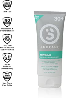 Surface Mineral Lotion - Reef Safe, Broad Spectrum UVA/UVB Protection, Cruelty and Paraben Free, Hypoallergenic, Non-Greasy, Ultra Water Resistant - SPF 30, 3oz