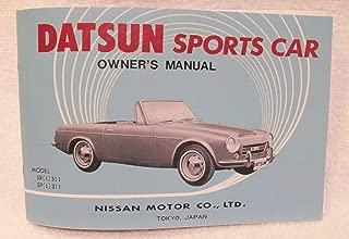 1968 Datsun SPL / SRL311 1600 / 2000 REPRINT Owner's Manual by The Datsun Roadster Book