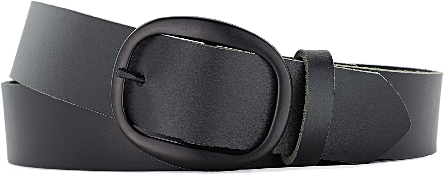 Naleeni Womens Black Leather Belt 1.5 Outlet SALE with inc Buckle Oval Houston Mall
