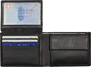 Wallets for Men Bifold RFID Leather Mens Wallet Flip ID Coin Compartment