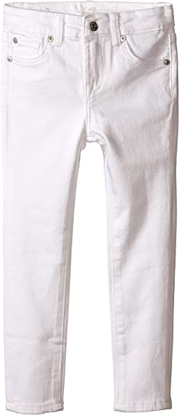 7 For All Mankind Kids The Skinny Five-Pocket Stretch Denim Jeans in Clean White (Little Kids)