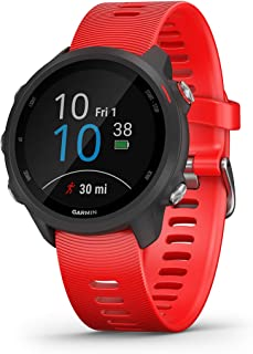 Garmin Forerunner 245 Music, GPS Running Smartwatch with Music and Advanced Dynamics, Lava Red