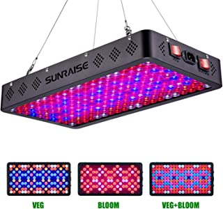 SUNRAISE 2000W LED Grow Light Full Spectrum Triple-Chips LED Lens Tech Veg and Bloom Two Switches LED Grow Lamp for Indoor Plants with Daisy Chain (15watt led 200pcs)