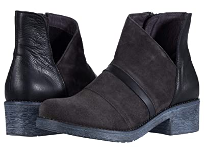 Naot Emerald (Oily Midnight Suede/Black Leather Combination) Women