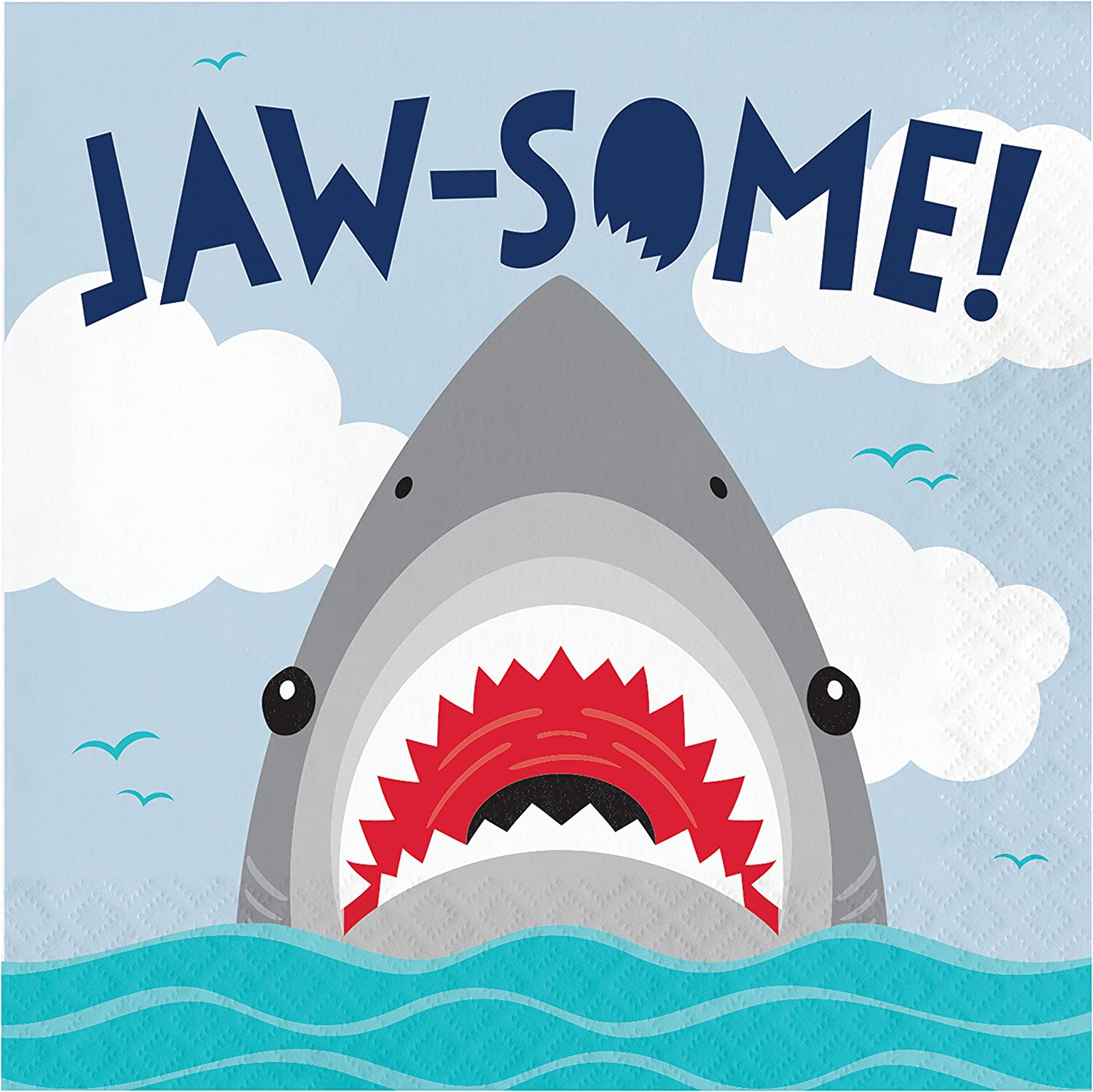 Shark Party Jaw-Some Napkins, 48 ct