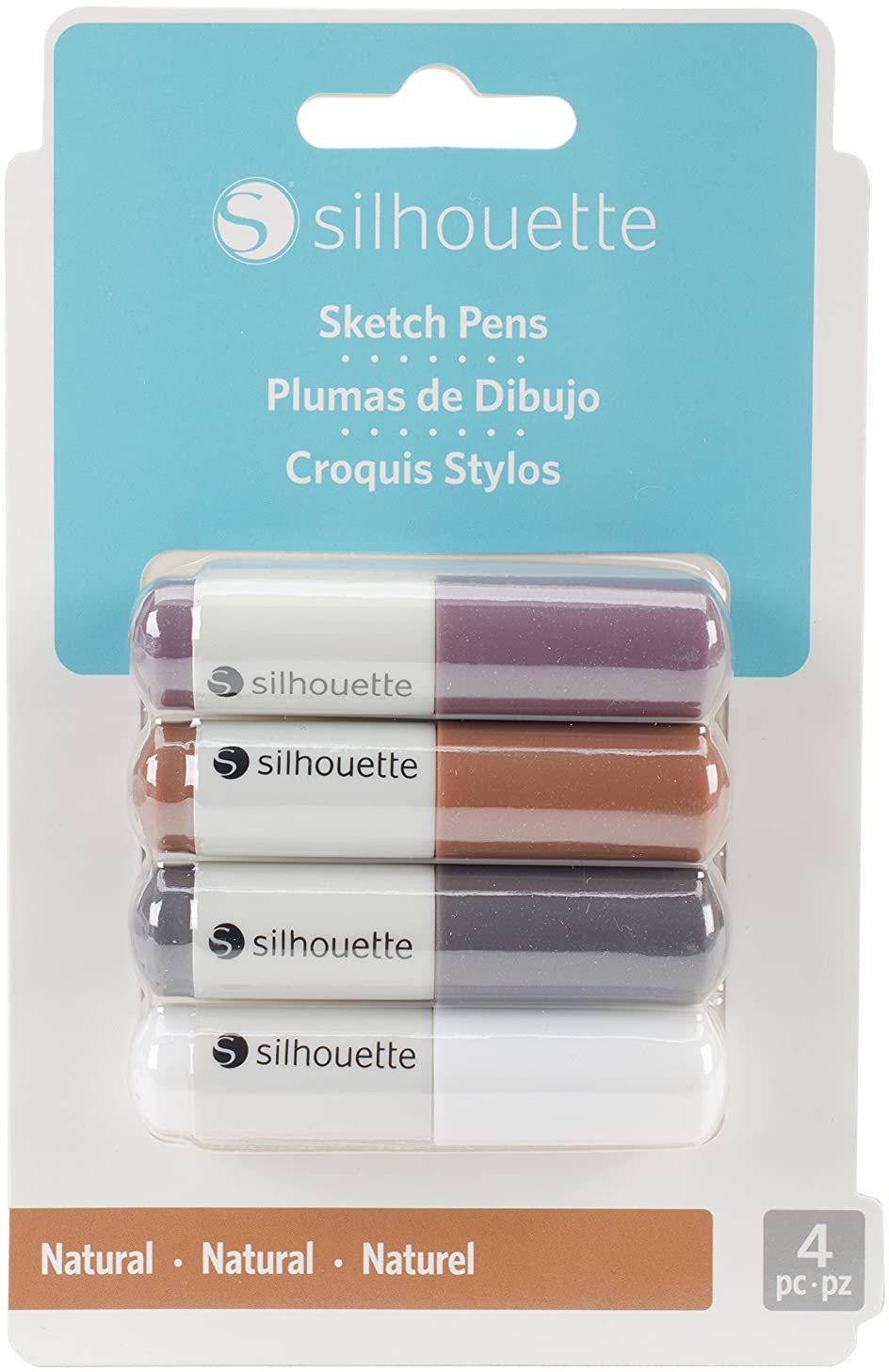 Silhouette of America SILH NAT Sketch Pens 4/Pkg