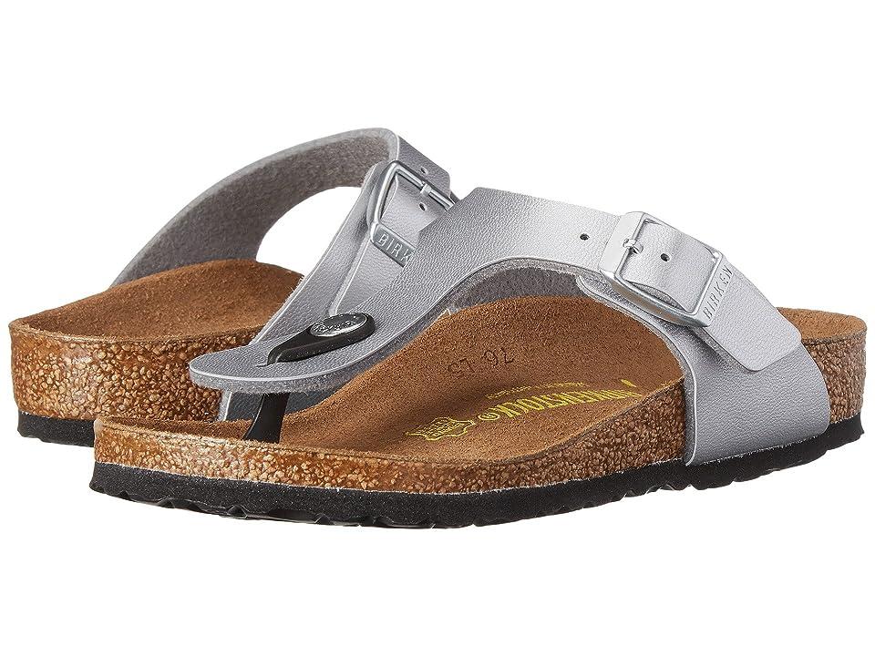 Birkenstock Kids Gizeh (Toddler/Little Kid/Big Kid) (Silver Birko-Flortm) Girls Shoes