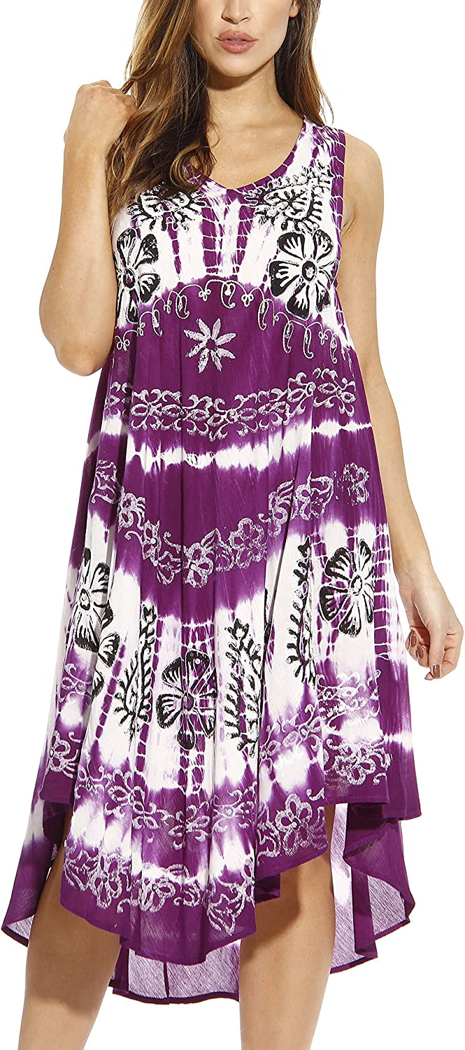 Riviera Purchase Sun Tie Dye Factory outlet Summer Dress Design Hand Floral Painted with