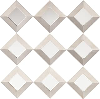 Southern Enterprises Masada Mirrored Squares Wall Sculpture