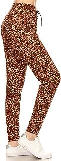 Leggings Depot Premium Jogger Women's Popular Printed High Waist Track Yoga Full Pants (S-XL)