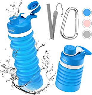 collapsible foldable reusable water bottles