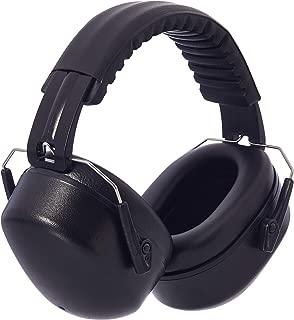 AmazonBasics Noise Reduction Safety Earmuffs Ear Protection, Solid Black
