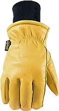 Men's Water-Resistant Leather Winter Work Gloves, Medium (Wells Lamont 1202M)