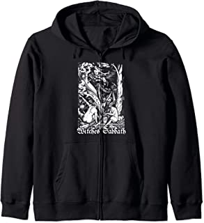 Blackcraft Vintage Witches Sabbath Coven Bad Witch Zip Hoodie