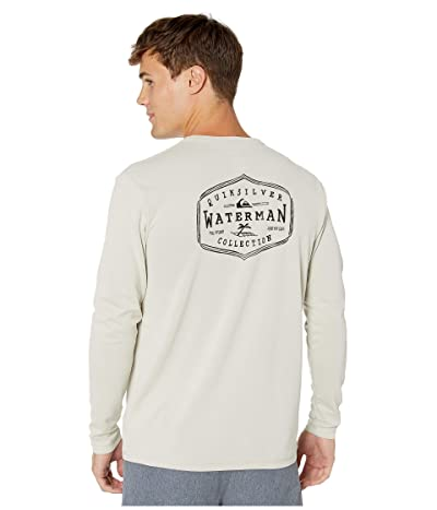 Quiksilver Waterman Gut Check Long Sleeve UPF Surf Tee (Silver Cloud) Men
