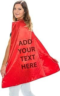 Reversible Superhero Custom Personalized Costume Capes