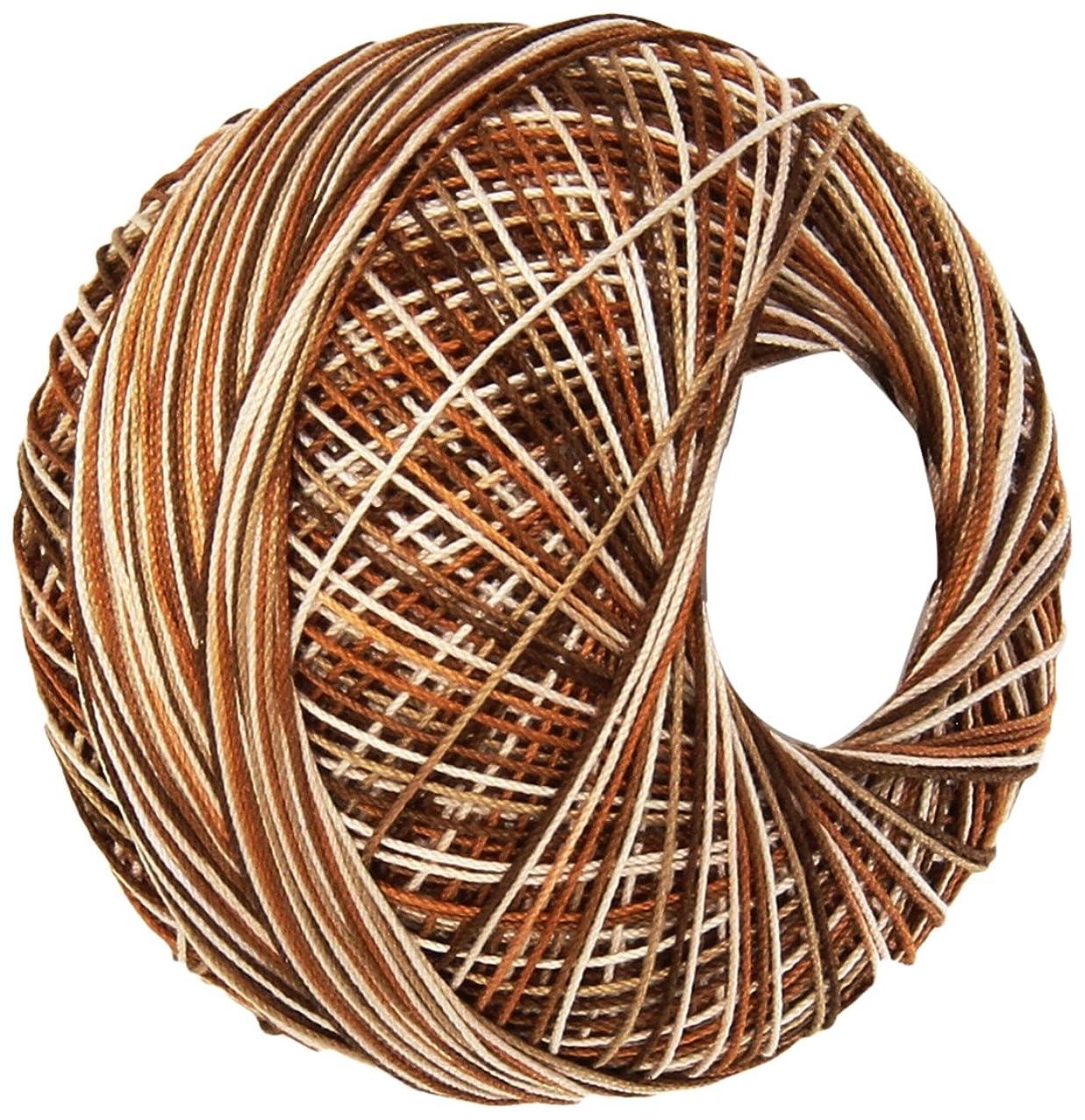 Handy Hands 210-Yard Lizbeth Cotton Thread, 25gm, Rootbeer Float
