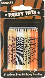 24 pc Safari Wild Animal Print Birthday Cake Candles