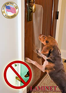LAMINET The Original Deluxe Dog Scratch Shield - Protect Your Doors & Walls with Our Deluxe Heavy-Duty Flexible Plastic Do...