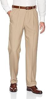 Haggar Men's Premium Comfort Classic Fit Pleat Expandable Waist Pant