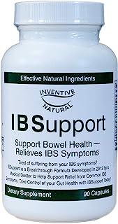 Inventive Natural IBSupport Supplement Breakthrough Formula - Balances Gut Health & Digestion - Combats Gas & Bloating - H...