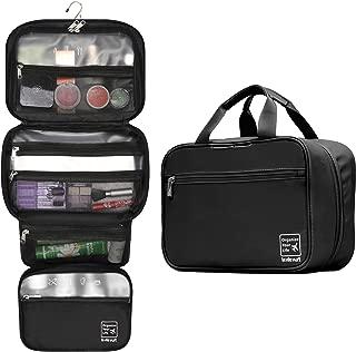 Lavievert Hanging Toiletry Bag Makeup Organizer Cosmetic Bag Waterproof Travel Accessories Dopp Kit For Women And Men - Black