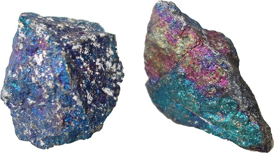 Chalcopyrite Extra du Mexique - Pierre brute Lot de deux. 200 g à 300 g