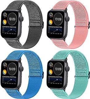 WNIPH Apple Watch armband (SE, Series 6, Series 5, Series 4 met 40 mm/44 mm) (Series 3, Series 2, Series 1 met 38 mm/42 m...