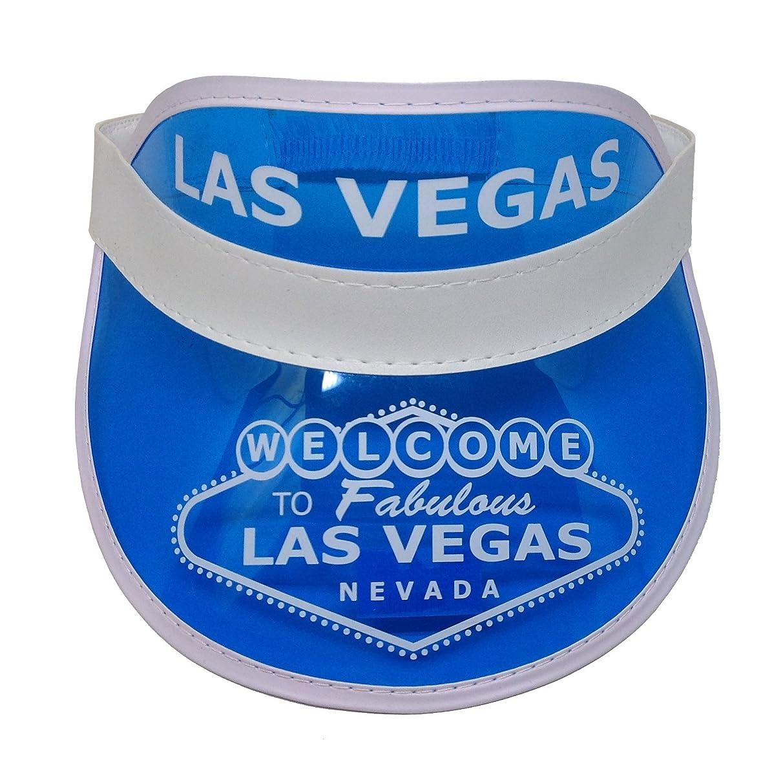 Las Vegas Blue Dealer Visor One Size Fits Most - Expandable Headband