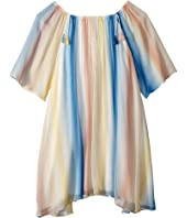 Chloe Kids - Mini Me Couture Dress Rainbow Striped (Big Kids)