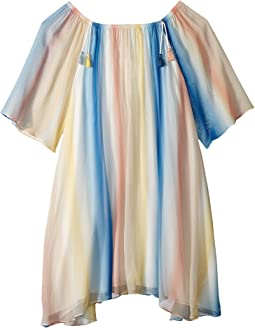 Mini Me Couture Dress Rainbow Striped (Big Kids)