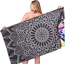 Sand Free Travel Beach Towel Blanket-Quick Fast Dry Super Absorbent Lightweight Thin Microfiber Towels for Pool Swimming B...