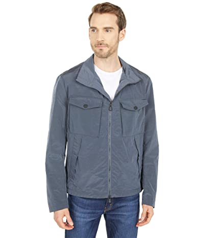 Save the Duck Edward ROCK Water Repellant Zip-Up Jacket (Ombre Blue) Men