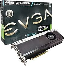 EVGA GeForce GTX 680 FTW 4096MB GDDR5, DVI, DVI-D, HDMI, DisplayPort, 4-way SLI Ready Graphics Card (04G-P4-3687-KR) Graphics Cards 04G-P4-3687-KR