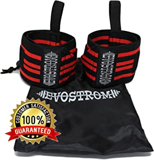 EVOSTROM Wrist Wraps for Weight Lifting or Strength Training.
