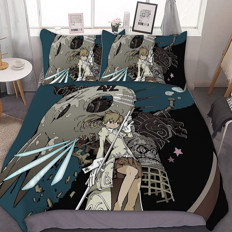 ZFSLYTO Soul Eater 3-Piece Bedding Set Duvet 2 Pillow Cover 1 + Max 70% Overseas parallel import regular item OFF